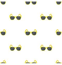 Yellow trendy sunglasses icon in cartoon style vector