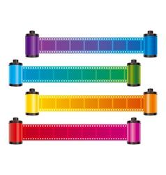 film strip color vector image