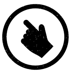Index finger left up direction icon rubber stamp vector