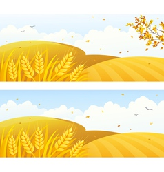 Autumn crop banners vector
