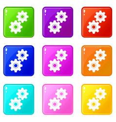 gear set 9 vector image