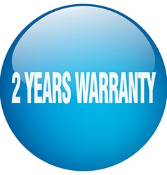 2 years warranty blue round gel isolated push vector image vector image