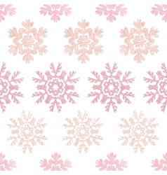 Red christmas snowflakes geometric textile texture vector