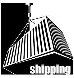 shipping black and white vector image