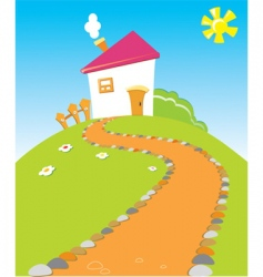house road vector image