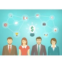 Modern business team start up vector