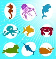 marine life cartoon vector image