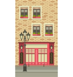 Townhouse shop vector