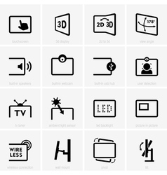 Monitor technology icons vector image