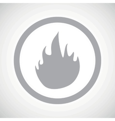 Grey fire sign icon vector