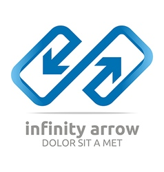 Logo abstract infinity arrow design symbol icon vector