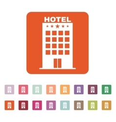 The hotel icon travel symbol flat vector