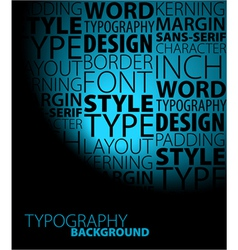 Typeface poster vector