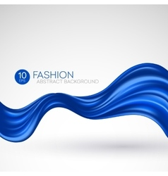 Blue flying silk fabric fashion background vector
