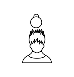 Man with the weight over head icon vector