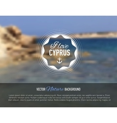 Nature seaside blurred background with design text vector