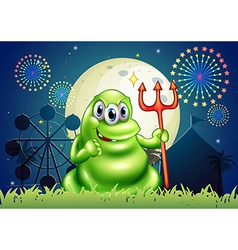 A death monster at the carnival with a firework vector