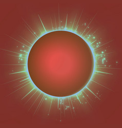 abstract red background with planet vector image