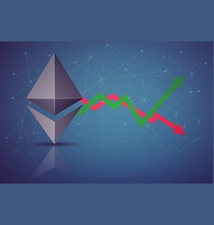 Background of ethereum exchange trading vector