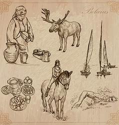 Belarus hand drawn pack no6 vector