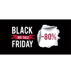 Black Friday sale design template Black Friday 80 vector image vector image