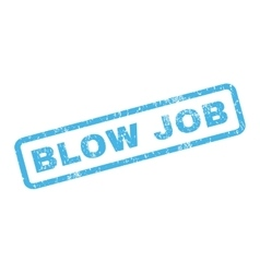 Blow job rubber stamp vector