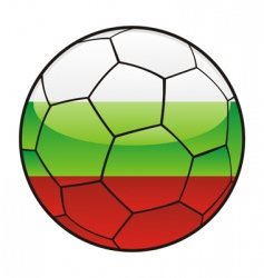 bulgaria flag on soccer ball vector image vector image