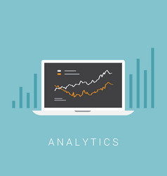 business analytics concept vector image