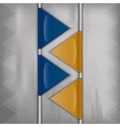business triangles blue yellow II vector image