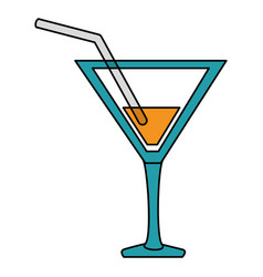 cocktail cup isolated icon vector image vector image