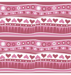decorative striped wallpaper vector image vector image