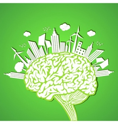 Ecology concept with brain stock vector