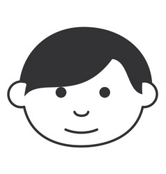 Little boy head avatar character vector