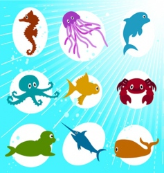 marine life cartoon vector image