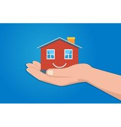 Miniature model house vector