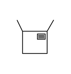 opened package icon vector image