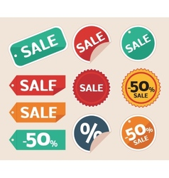 Sale tag vector image vector image