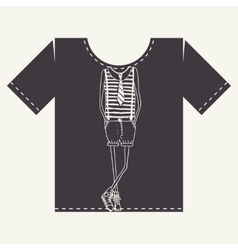 T Shirt Print Design vector image vector image