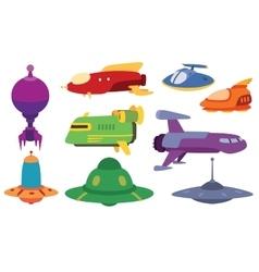 UFO spaceship set vector image vector image