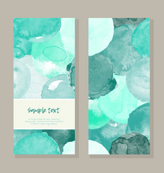 Watercolor teal greeting card vector