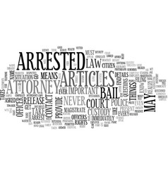 What to do if you are arrested text word cloud vector