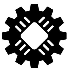 Hardware gear flat icon vector