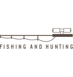 Fishing rod and optical sight abstract vector