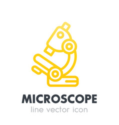 Microscope icon in line style on white vector
