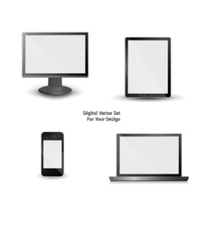 Digital set for your design vector