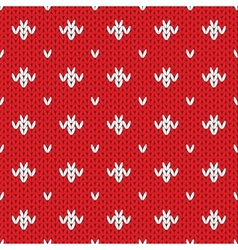 Knitted pattern seamless background vector