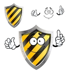 Cartoon protective or warning sign shield vector