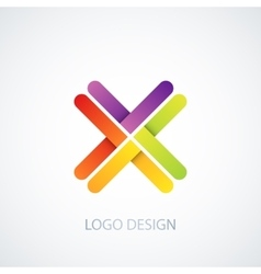 Colorful logo letter x vector