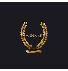 Golden Winner Award Sign vector image