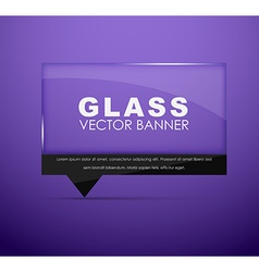 Glass banners with quote bubble vector
